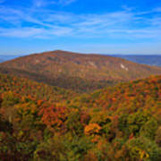 Eaton Hollow Overlook On Skyline Drive In Shenandoah National Park Art Print
