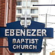 Ebenezer Baptist Church Art Print