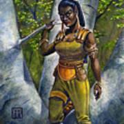 Ebony Elf Art Print