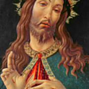 Ecce Homo Or The Redeemer Art Print by Botticelli