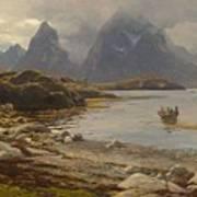 Eckenbrecher, Karl Paul Themistokles Von Athens 1842 - 1921 Goslar Norwegian Fjord Art Print