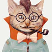 Eclectic Cat Art Print