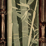 Eclipse Bamboo With Frame Art Print