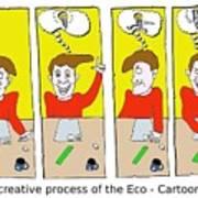 Eco Cartoonist Art Print