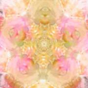 Eco Print Rose Mandala Art Print