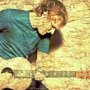 Ed Sheeran And Guitar Art Print