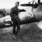 Eddie Rickenbacker - Ww1 American Air Ace Art Print