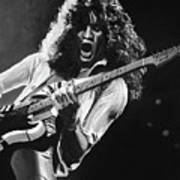Eddie Van Halen - Black And White Art Print