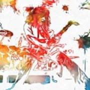 Eddie Van Halen Paint Splatter Art Print