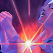Eddie Vedder And Lights Art Print