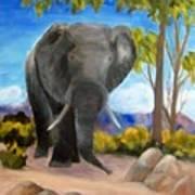 Eddy Elephant Art Print
