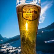 Edelweiss Beer In Kirchberg Austria Art Print