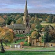 Edensor - Chatsworth Park - Derbyshire Art Print