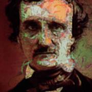 Edgar Allan Poe Artsy 2 Art Print