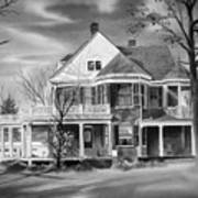 Edgar Home Bw Art Print by Kip DeVore