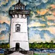 Edgartown Lighthouse Martha's Vineyard Mass Art Print