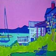 Edgartown Porches Art Print