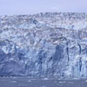 Edge Of A Huge Glacier In Alaska Art Print