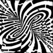 Edge Of A Mobius Strip Maze Art Print