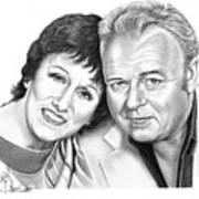 Edith And Archie Bunker Art Print by Murphy Elliott