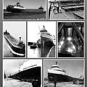 Edmund Fitzgerald Black And White Art Print