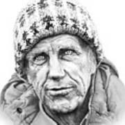 Portrait Edmund Hillary Art Print