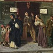 Eduardo Matania, Beim Pfandleiher 1870s Art Print