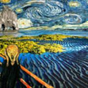 Edvard Meets Vincent Posters Art Print