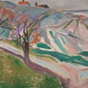 Edvard Munch , Landscape, Kragero Art Print
