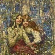 Edward Atkinson Hornel 1864-1933 The Bluebell Wood Art Print