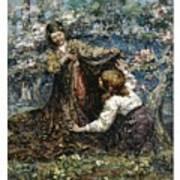 Edward Atkinson Hornel 1864 - 1933 The Butterfly Catchers Art Print