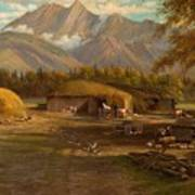 Edward Hill 1843-1923 Adamsons Ranch, Utah Art Print
