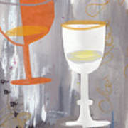 Efervescent Champagne Cups Art Print