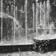 Effervescence Fountain In Milano Italy Art Print
