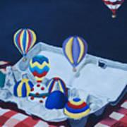 Egg Balloons Art Print