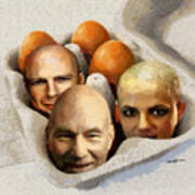 Eggheads Art Print by Anthony Caruso
