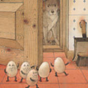 Eggs And Dog Art Print