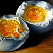 Eggs Contemporary Oil Painting On Canvas  Art Print