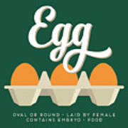 Eggs Defined Art Print