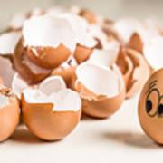 Eggs Have Feelings Too Art Print
