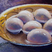 Eggs In Window Light Art Print