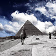 Egypt - Clouds Over Pyramid Art Print