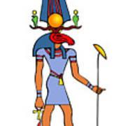 Egyptian God - Khensu Art Print
