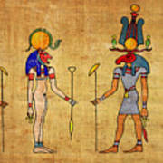 Egyptian Gods And Goddness Art Print