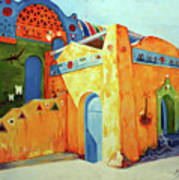 Egyptian Nubian House Art Print