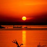 Egyptian Sunrise On Lake Nasser Art Print