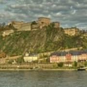 Ehrenbreitstein Fortress On The Rhine Art Print