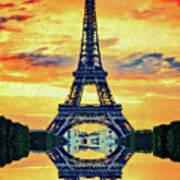 Eifel Tower In Paris Art Print
