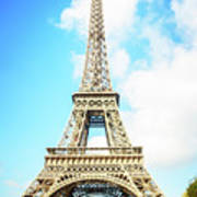Eiffel Tower Portrait Art Print
