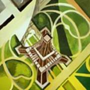 Eiffel Tower And Jardin Du Champ De Mars Art Print